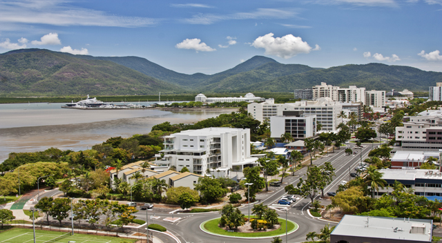 Share Accommodation Cairns City Aerial View - Cairns Kangarooms - Student Living Student Accommodation