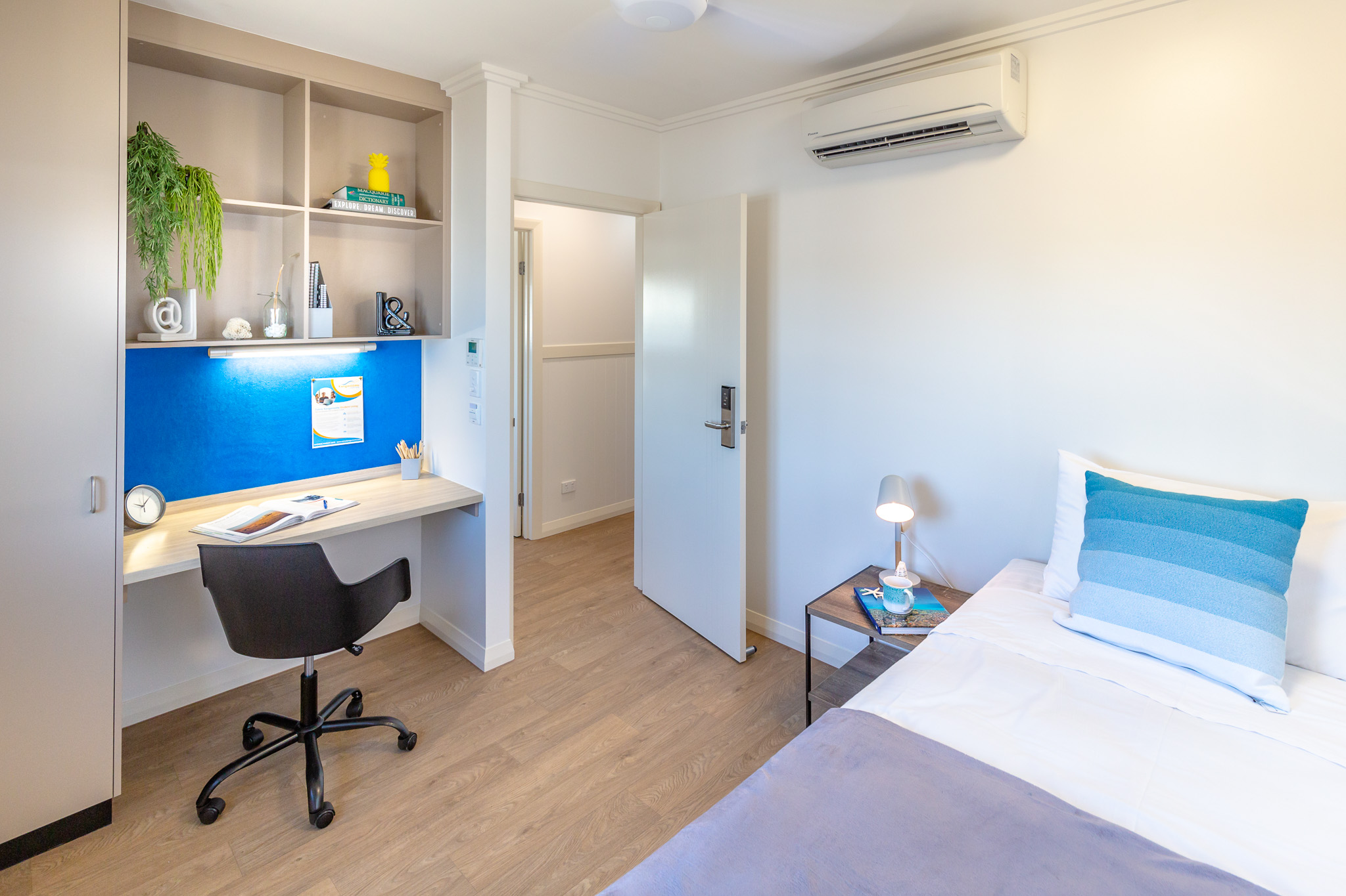 Student Room | Blue Reef House - Bedroom 1 - Cairns Kangarooms Student Living